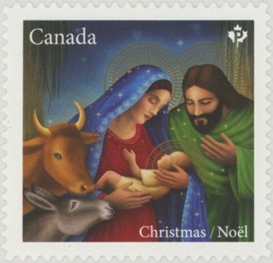 "2020 Christmas ""Nativity Scene"", Mint Stamp, Canada"