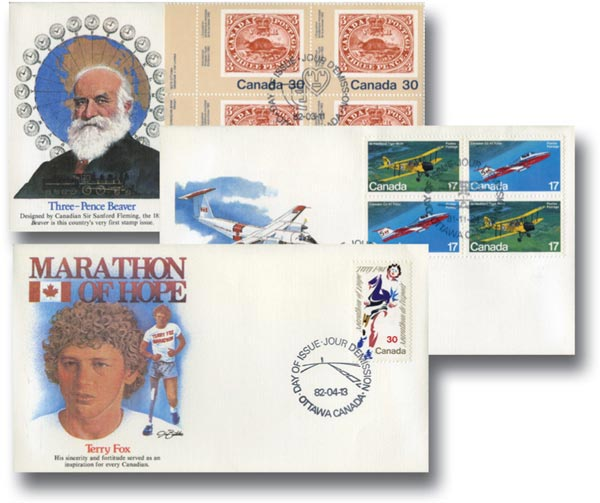 First Day Cover Collection, Set of 100, Canada