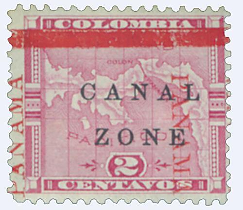 1904 2c ros, blk ovprnt horiz.