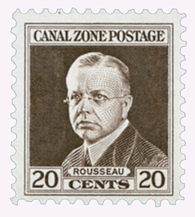 1928-40 20c brn, Rousseau,flat,unwmk.