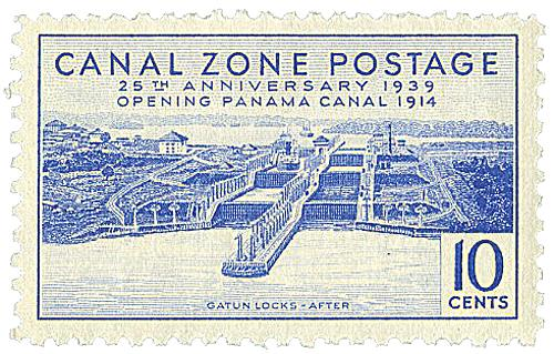 1939 10c ultra, Gatun Locks After