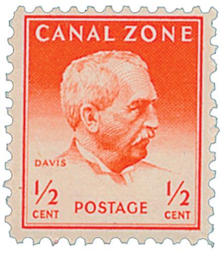 1948 1/2c brt red, Davis