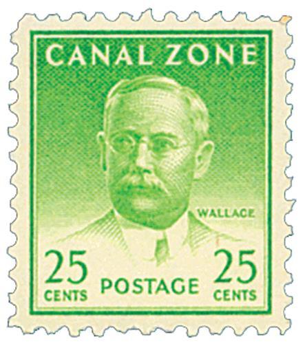 1946-49 25c green, Wallace