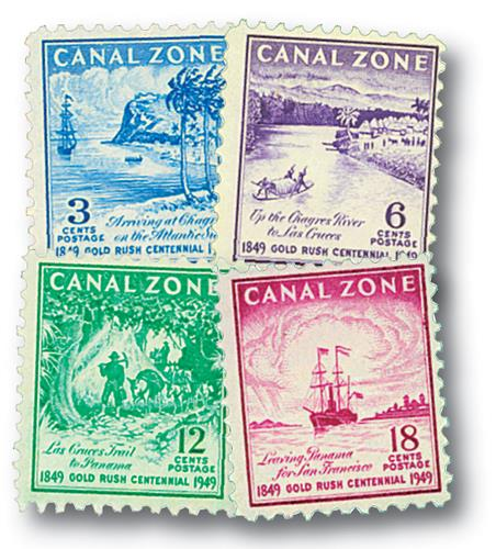 1949 3c-18c Canal Zone, Set of 4