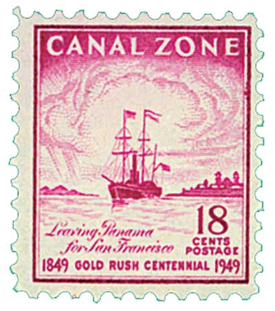 1949 18c dp red lil, Dep San Francisco