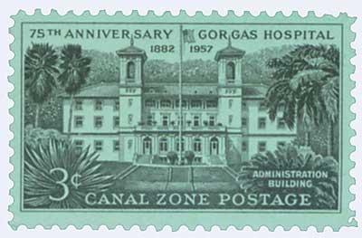 1957 3c blk, Gorgas Hospital