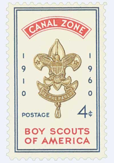 1960 4c dk bl,red,bis, Boy Scouts
