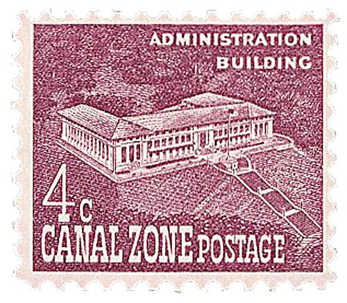 U.S. #CZ152 pictures the former seat of the Canal Zone government at Balboa Heights.