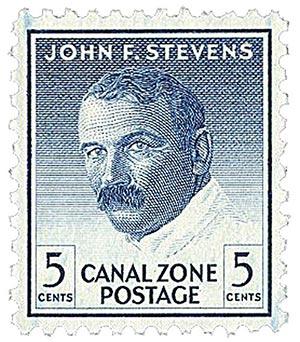 1977 5c dp bl, Stevens