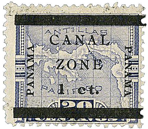 1906 1c on 20c violet type b