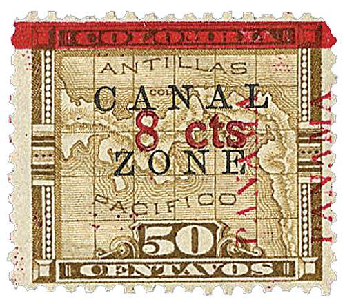 1906 8c on 50c bis brn,ovprnt up,type c