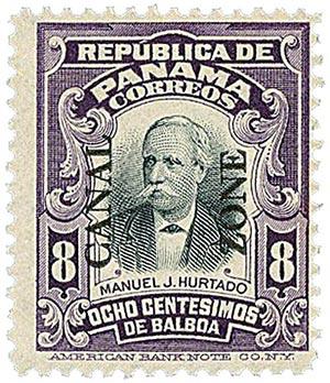 1909 8c vio,blk,  Hurtado, type I