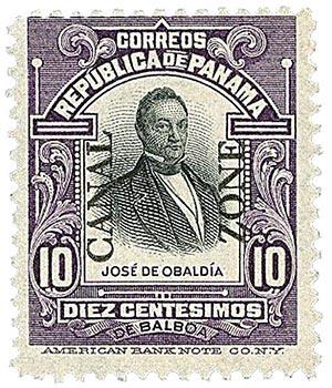 1909 10c vio,blk, Obaldia, type I