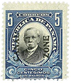 1920 5c dp bl,blk, Arosemena, type IV