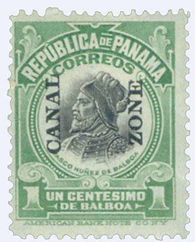 1921 lt grn,blk, Balboa, type V
