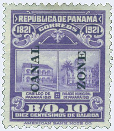 1921 10c vio, Munic bldg, type V