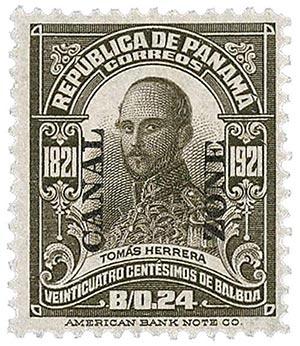1921 24c bl brn, Herrera, type V
