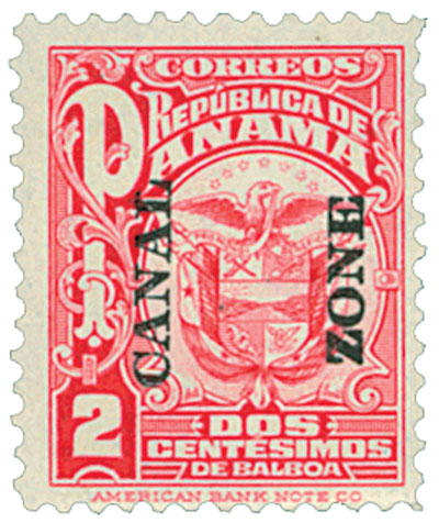 1924 2c car, Arms of Panama