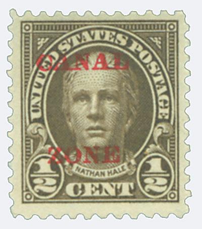 1925 1/2c ol brn, ovprnt type A
