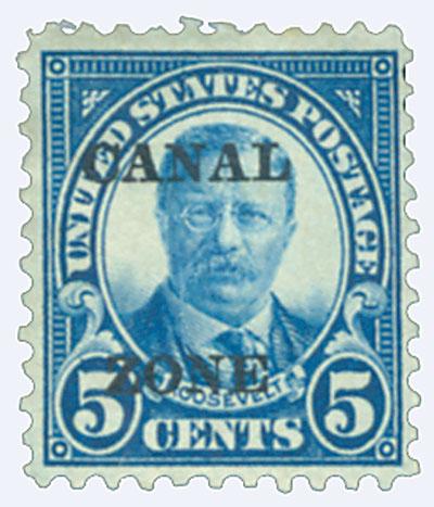 1924 5c dk bl, ovprnt type A
