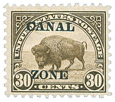 1924 30c ol brn, ovprnt type A