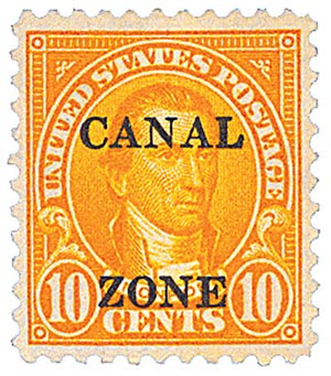 1925 10c org, ovprnt type B