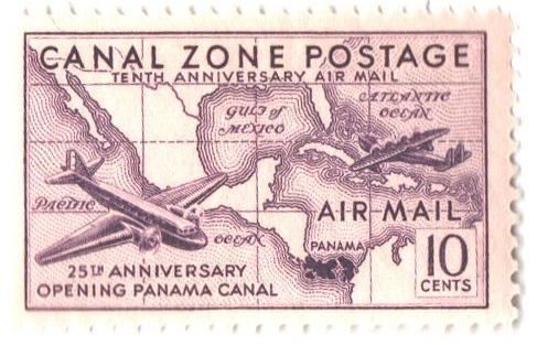 1939 10c dl vio, Planes & Map