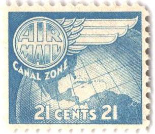 1951 21c lt bl, Globe & Wing
