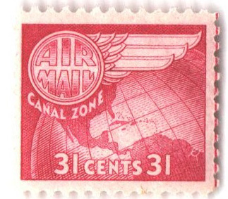 1951 31c cerise, Globe & Wing