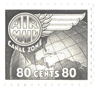 1951 80c lt gry blk, Globe & Wing