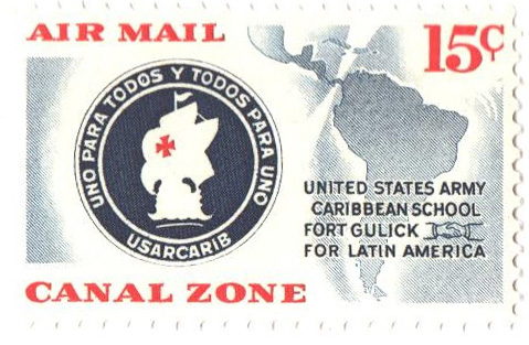 1961 15c US Army Caribbean School Emblem