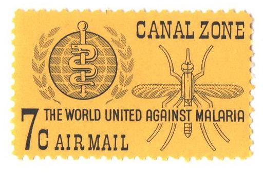 1962 7c yel,blk, Malaria Emblem