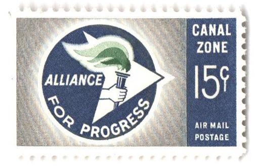 1963 15c gry,grn, dk ultra, Progress