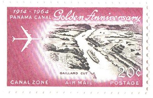 1964 20c ros lil,blk,jet over Cristobal