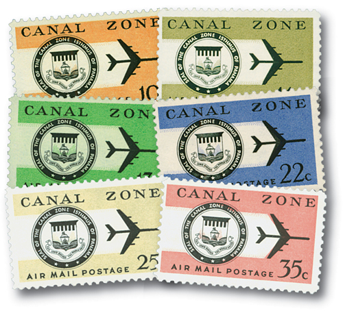 1968-76 10c-35c Canal Zone Seal (6)