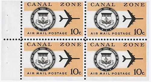 1970 10c Seal and Jet, bklt. pane of 4