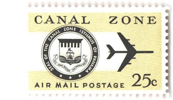 1968 25c pl yel grn, blk, Seal& Jet