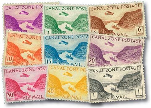 1931-49 4c-$1 Gaillard cut, Canal Zone