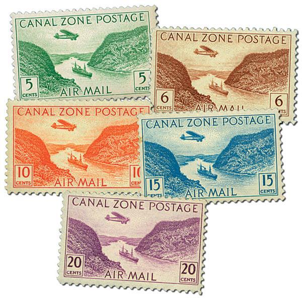 1931-46 5c-20c Gaillard Cut Stamps