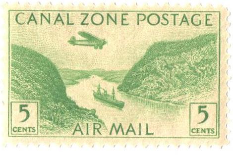 1931 5c yel grn, Gaillard Cut
