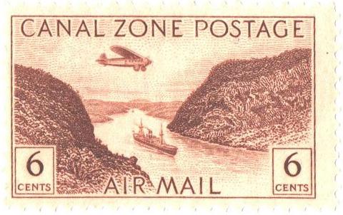 1946 6c yel brn, Gaillard Cut
