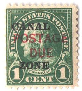 1925 1c dp grn, ovprnt, Type A