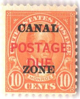 1925 10c orange, Overprinted Type A