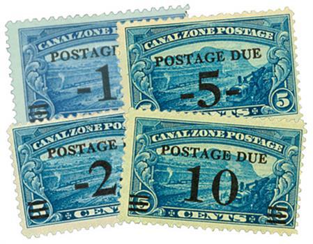 1929-30 1c-10c on 5c Gaillard Cut CZ