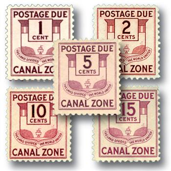1932-41 1c-5c Canal Zone Seal