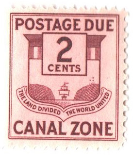 1932 2c cl, Canal Zone Seal
