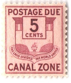1932 5c cl, Canal Zone Seal