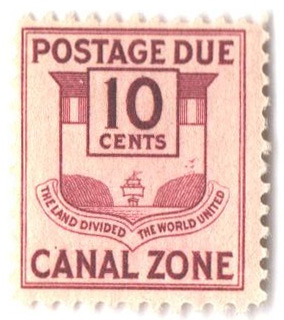 1932 10c cl, Canal Zone Seal