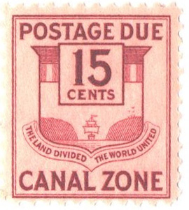 1941 15c cl, Canal Zone Seal
