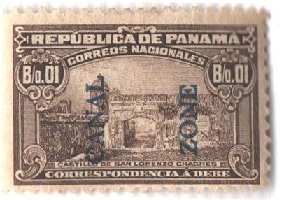 1915 1c ol brn, bl ovprnt type II